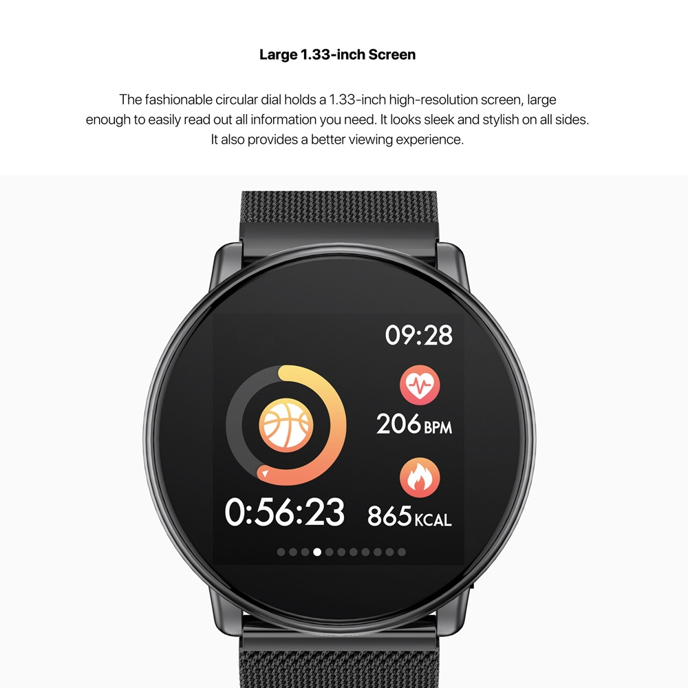 UMIDIGI Uwatch 1 33 inch OLED Color Screen Fashion Smart Watch - Newegg com