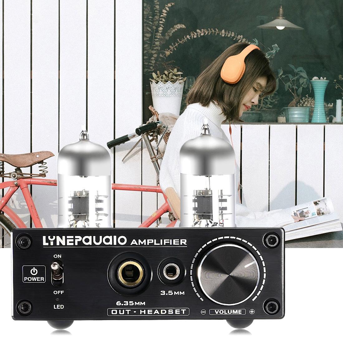 LINEPAUDIO A962 HiFi 6J9 Vacuum Tube Power Headphone Amplifier USB ASI