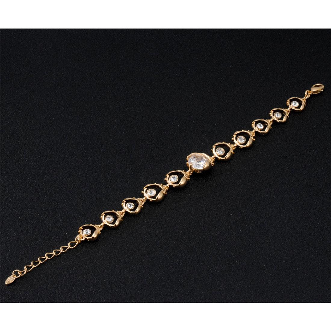 dcccab605c3b Compra Elegante pulsera chapada en oro con diamantes de imitación ...